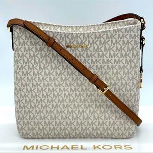 Michael Kors Large Messenger Bag Vanilla